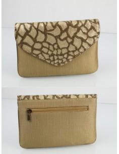 cartera bolso de fiesta dorado