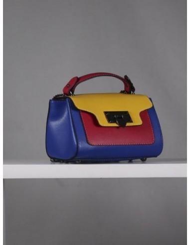 Mini bolso de piel multicolor