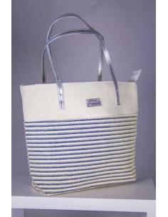 Bolso de playa blanco con...