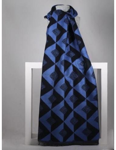 Bufanda de caballero azul con...