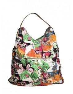 bolso de tela de flores