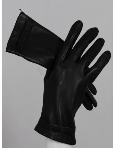 Guantes de piel de color negro para...