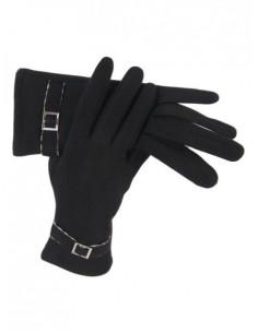 Guantes lana negros con...