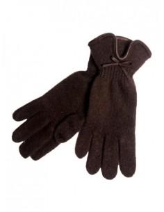 Guante lana marrón