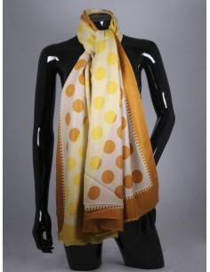 Bufanda de lana en tonos...