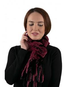 Bufanda de piel de rex rosa