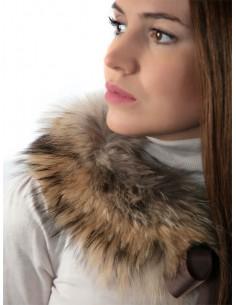 Cuello de piel de marmota...