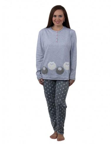 Pijama de invierno para mujer con...