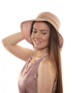 Sombrero mujer verano rosa...