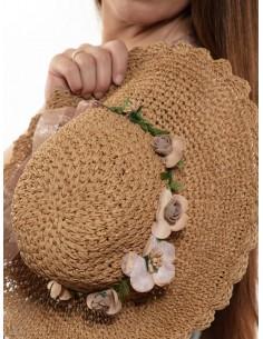 Sombrero de rafia mujer con...